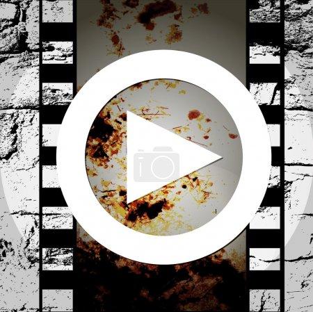 Illustration pour Jouer de musique abstraite de style grunge icône - image libre de droit