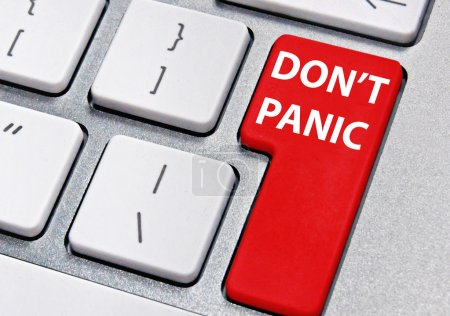Photo for Computer key labelled don't panic - Royalty Free Image