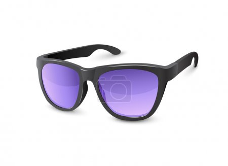 Stylish Black Sun Glasses With Violet Lenses