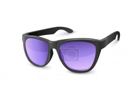 Stylish Black Sun Glasses With Violet Lenses
