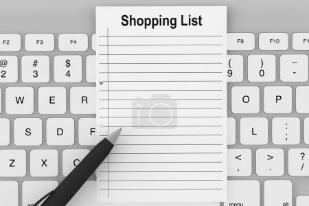 Shopping List with Keyboard