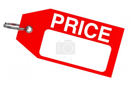 Red price tag