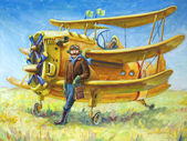 Pilot and his plane