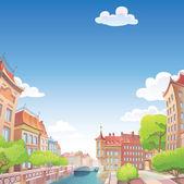 """Постер, картина, фотообои """"Старый хороший европейский город"""""""