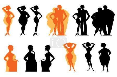 Silhouettes of dieting
