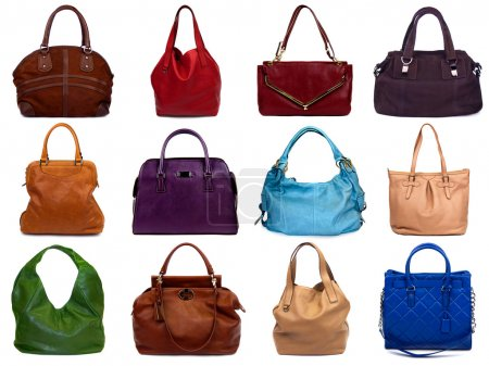 Set of multicolored female bags-1