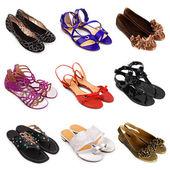Pestrobarevné ženské boty-5