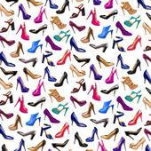 Vícebarevné žena boty pozadí-3