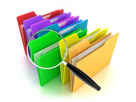 Photo for Illustration of a multicoloured folders on a white background - Royalty Free Image