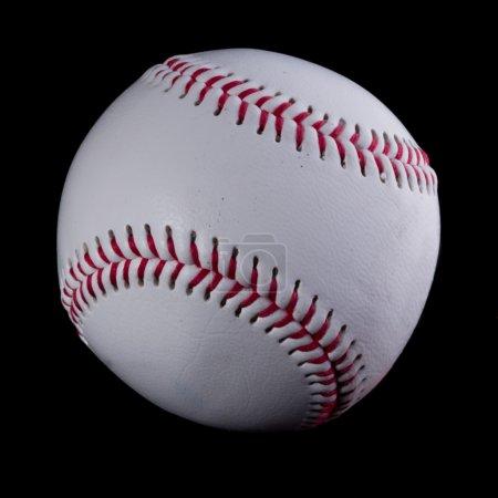 Photo pour Baseball sur fond noir - image libre de droit