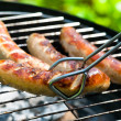 Delicious german sausages on the barbecue grill...