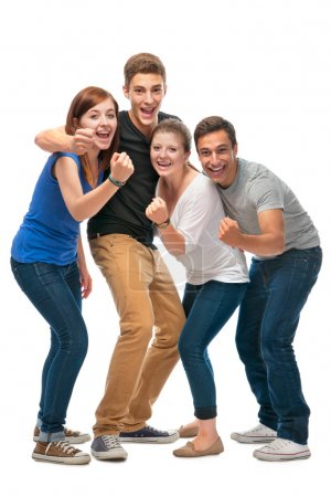 Group of the college students