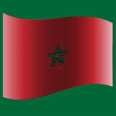The flag of the country.
