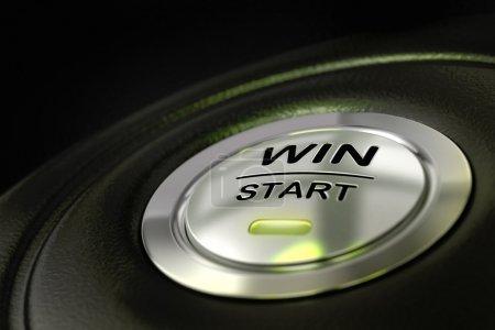Winning money, win start button