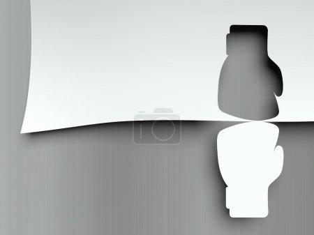 Photo pour Choc des gants de boxe, concept des contraires - image libre de droit