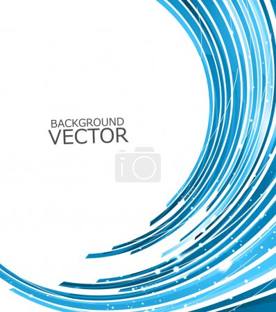 Illustration for Abstract technology lines blue wave vector background - Royalty Free Image
