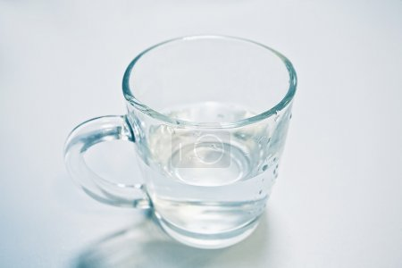 Clean water in a glass cup isolated