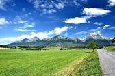 Pohled na vrcholky hor v létě ve Vysokých Tatrách
