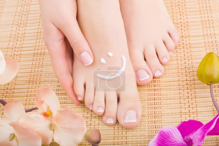 Beautiful manicured feet