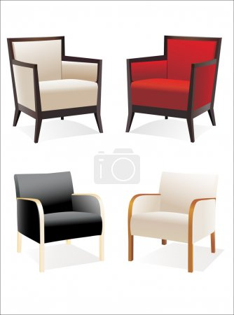 Illustration for Chair Set - Royalty Free Image
