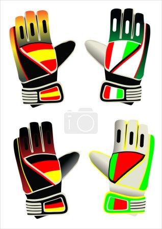 Gloves of the goalkeeper