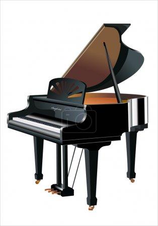 Illustration pour Vecteur piano - image libre de droit