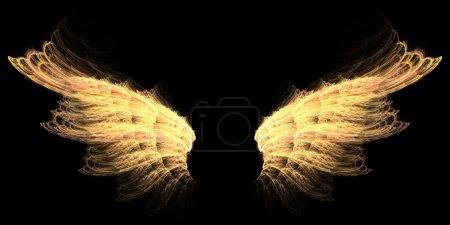 Photo pour Ailes d'enfer d'ange ou de démon avec rouge et jaune - image libre de droit
