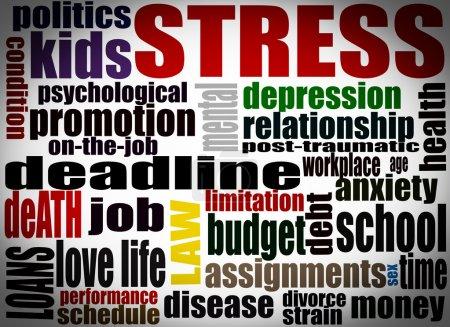 Stress concept illustration