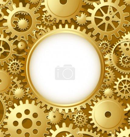 Illustration pour Modèle de document d'engrenage de roue dentée avec espace de copie pour votre texte personnalisé - image libre de droit