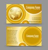 Globe theme business card