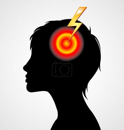 Terrible headache silhouette