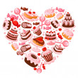 Candy heart. Illustration....