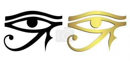 Eye of Horus in black and gold...