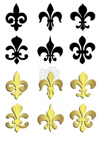Fleur de lis in black and gold
