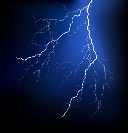 Detailed lightning vector