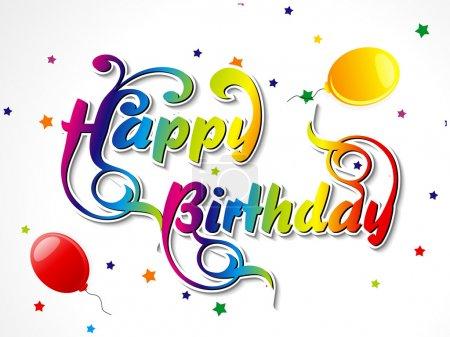 Abstract happy birthday card vector illustrator...