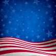 Fourth of July Background with stars and stripes c...