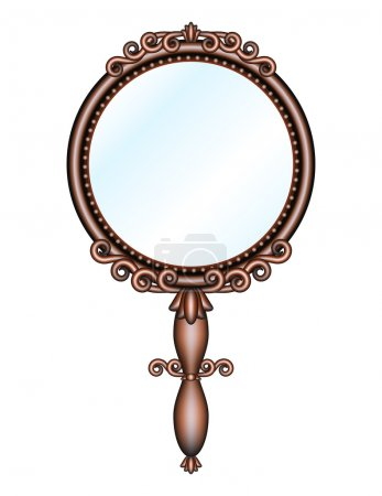Antique retro hand-held mirror