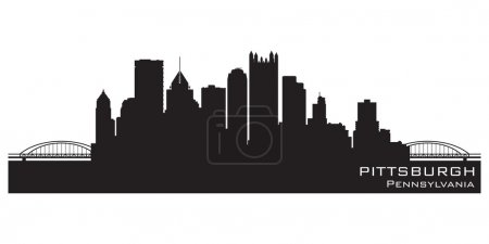 Pittsburgh, Pennsylvania skyline. Detailed vector silhouette
