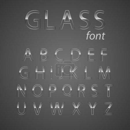 Illustration pour Alphabet vectoriel en verre . - image libre de droit