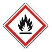 GHS warning danger Fire sign Vektor
