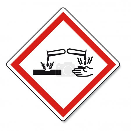 GHS warning signs created on White Background in A...