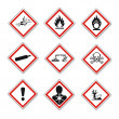 GHS warning signs set created on White Background ...