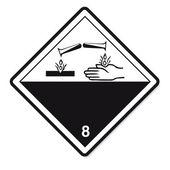 Veszélyes anyagok jelei ikon gyúlékony koponya radioaktív veszély