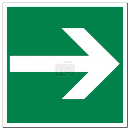 Rescue signs icon exit emergency arrow on white Ba...