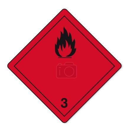 Hazardous substances signs icon flammable skull radioactive hazard fire