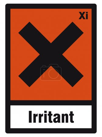 Safety sign danger sign hazardous chemical chemistry irritant