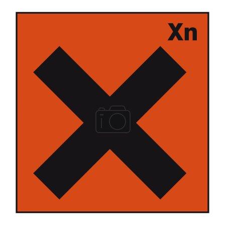 Safety sign danger sign hazardous chemical chemistry Cross