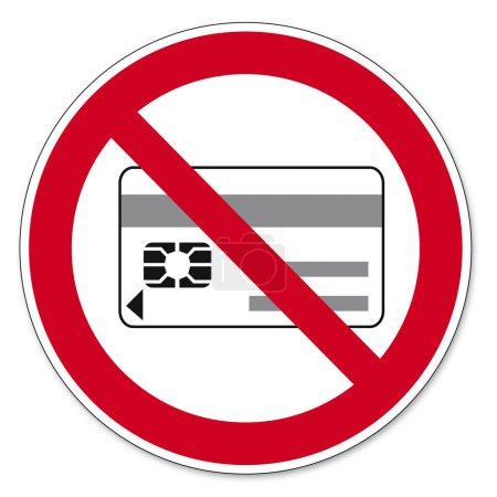 Illustration pour Panneaux d'interdiction Supports de données magnétiques ou électroniques interdits sur fond blanc Créé dans Adobe Illustrator . - image libre de droit