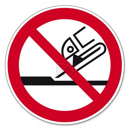 Prohibition signs BGV icon pictogram Not permitted for face grinding